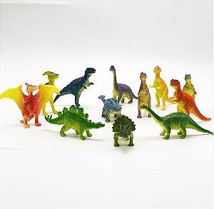 Kit Com 12 Peças Modelo Animal Dinossauros Plástico - Kids