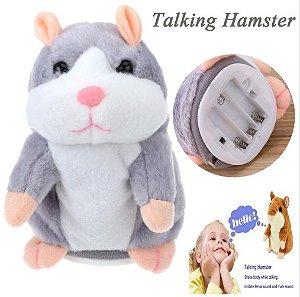 Hamster de Pelúcia Pet Grava e Repete os Sons
