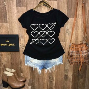 T-shirt Arrowed Heart