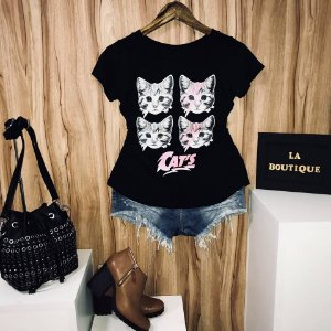 T-shirt Four Cats