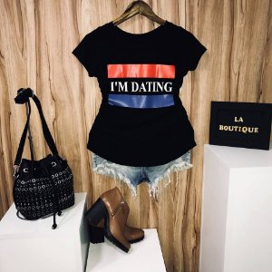 T-shirt Estou Namorando I'm Dating