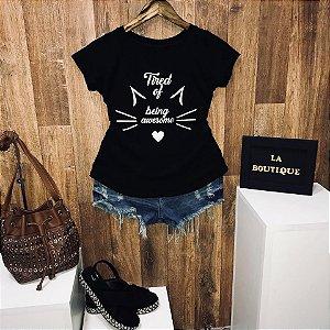 T-shirt Cat Cansada de ser Incrível