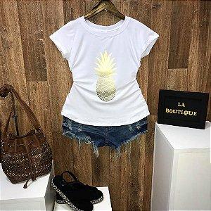 T-shirt Abacaxi Dourado
