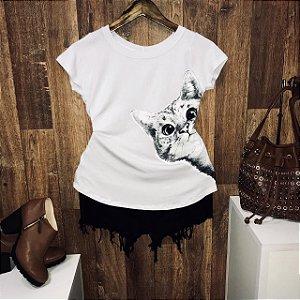 T-shirt Gatinho Curioso