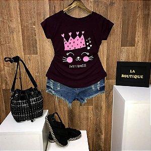 T-shirt Cat Sweet Princess - Doce Princesa