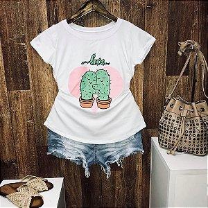 T-shirt Eu Amo muito meu cactus