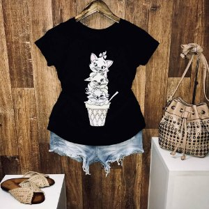 T-shirt Gatinhos no Pote