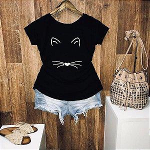 T-shirt Mimo de Gatinho
