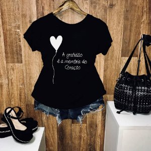 T-shirt Gratidão é a Memória do Coração