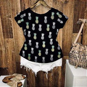 T-shirt Duplo Abacaxi Estampa Dupla