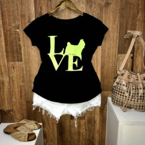 T-shirt Dog Love Neon