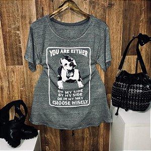 T-shirt Pit Bull Cinza GG
