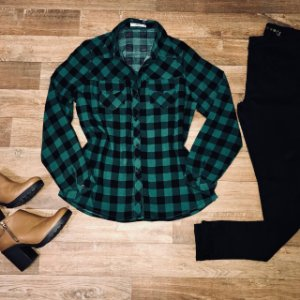 Camisa Xadrez Green e Black