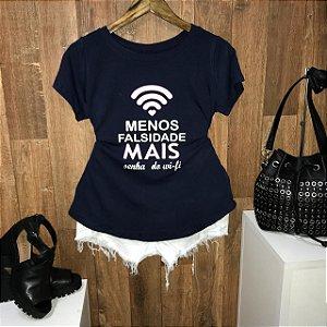 T-shirt Menos Falsidade e mais senha do wi-fi