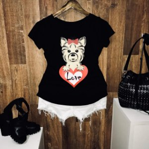 T-shirt Heart Love Dog