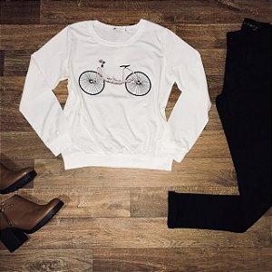 Blusa Moletinho Bike Branco