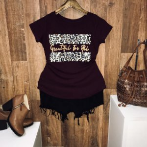 T-shirt Greatiful For All Animal Print Rose