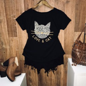 T-shirt Love E Cat