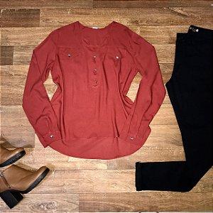 Camisa Botão Falso Fashion Terra