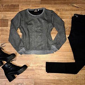 Moletinho Liso Fashion Cinza