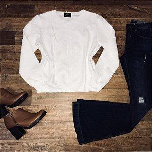 Moletinho Liso Fashion Branco
