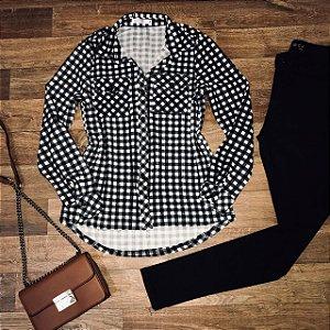 Camisa Xadrez Style Black