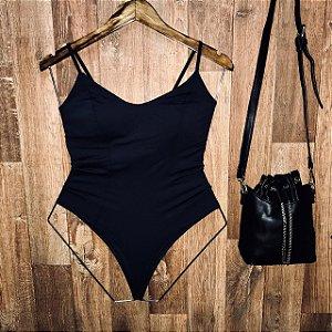 Body Alcinha com Bojo Black