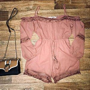 Macaquinho Ciganinha Fashion Rosê