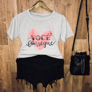 Camiseta Você Consegue com Glitter