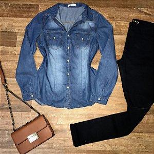 Camisa Jeans Azul