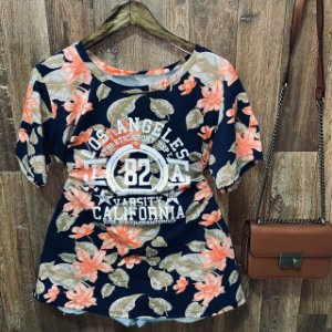 T-shirt Floral Los Angeles Azul GG
