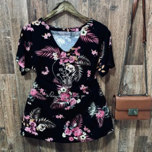 T-shirt Shocker Floral Light Black GG