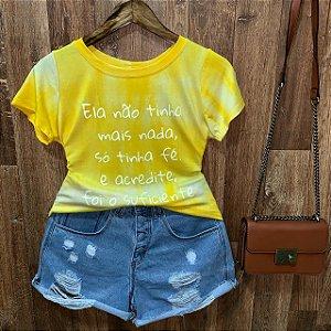 T-shirt Tie Dye Tenha Fé e Acredite