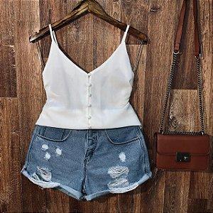 Blusa Alcinha Colors White