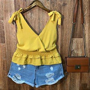 Blusa Alcinha com Lacinho Fashion Yellow