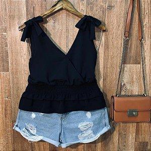Blusa Alcinha com Lacinho Fashion Black