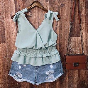 Blusa Alcinha com Lacinho Fashion Green