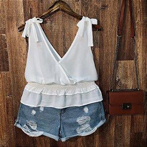 Blusa Alcinha com Lacinho Fashion White