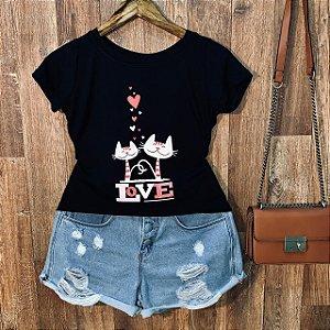 T-shirt Gatinhos Love