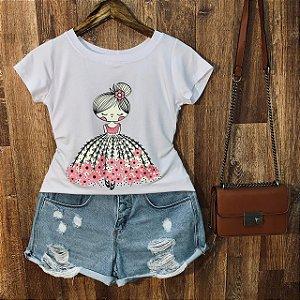 T-shirt Bonequinha Bailarina