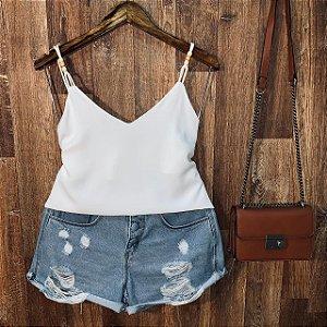 Blusa Alcinha Fashion Rebeca Branca