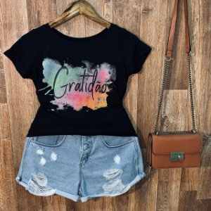 T-shirt Gratidão Fashion