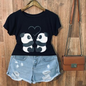 T-shirt Heart Panda