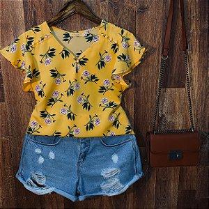 Blusa Ana Floral Amarela