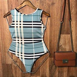 Body Regata de Amarrar Alana Fashion Blue