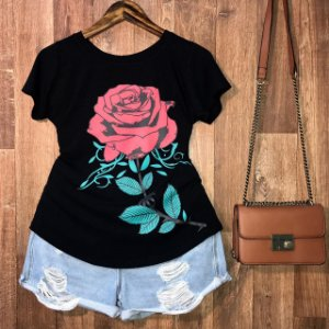 T-shirt Flor Rosa