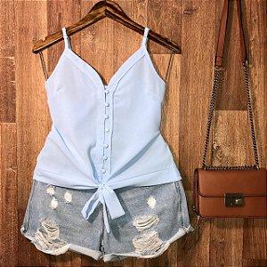Blusa Alcinha de Amarrar Luana Azul Claro
