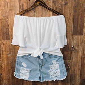 Blusa Ciganinha Cropped Lisa White
