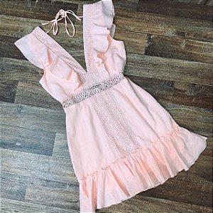 Vestido Decote Guipir Mariah Rosê