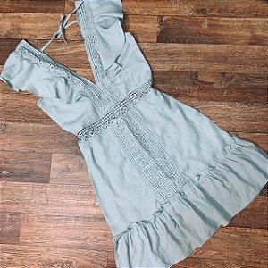 Vestido Decote Guipir Mariah Verde Mint